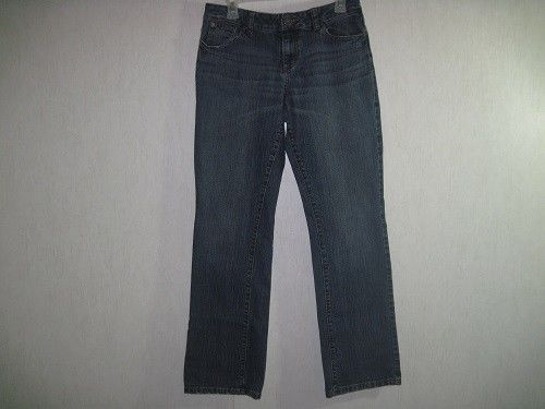 DKNY JEANS Womens Jeans Size 12 Straight Button Down Back Pockets Distressed #DKNY #BootCut