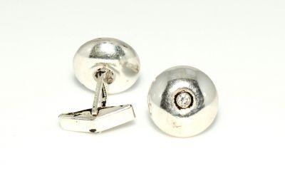 925 Ayar Gümüş Pres Kol Düğmesi