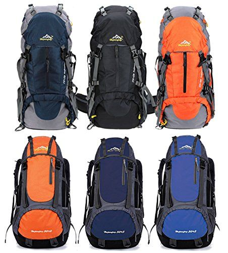 Susufaa 50L(45+5) Hiking Backpack Daypack Waterproof Outdoor Sport Camping Fishing Travel Climbing Mountaineering Cycling Skiing Outdoor Store Specifications:  ☺ Item type: Climbing Daypack  ☺ Gender: Unisex (Men,Women)  ☺ Material: Polyester  ☺ Color:   Black 50L/ Blue 50L/ Orange 50L  Deep Blue 55L/Light Blue 55L/Orange 55L   ☺ Capacity:   50L(45+5)  55L(50+5)  ☺ Size: Approx. 54*27*14CM / 21.3* 10.6* 5.5 in  ☺ Weight: Approx. 1.2kg / 2.2lb  Package…