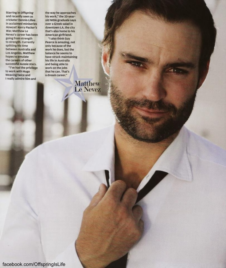 Matthew Le Nevez. Be still, my clanging ovaries!