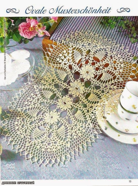 two crochet doilies