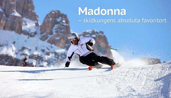 Madonna skidfavorit skidåkning manchesterpist. Skiing Snow winter STS Alpresor puder skidresa Alperna
