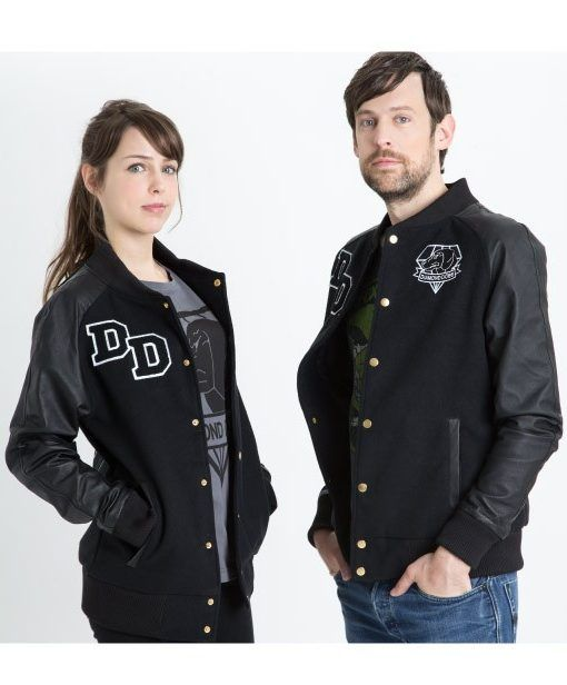 God news For all video game lovers, finding their favorite game attire in reality is like a dream come true for them, we are Made Diamond Dogs Big Boss Varsity Genuine Leather Jacket.