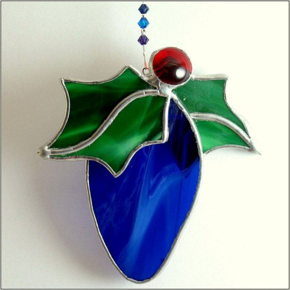 FREE POSTAGE Stained glass Christmas Bulb by RainbowStainedGlass