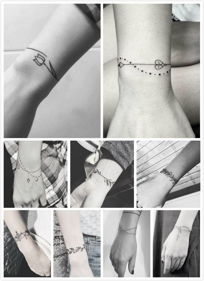 9 Bracelet tattoos