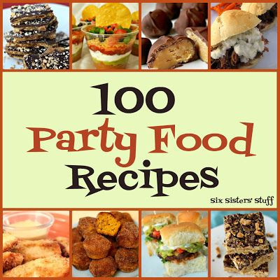 100 Party Food Recipes ~ holiday parties, pot lucks, would be good for any type of get together.