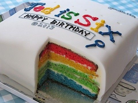 """Google rainbow birthday cake"" is a famous birthday cake. All kinds of kids will love this cake."