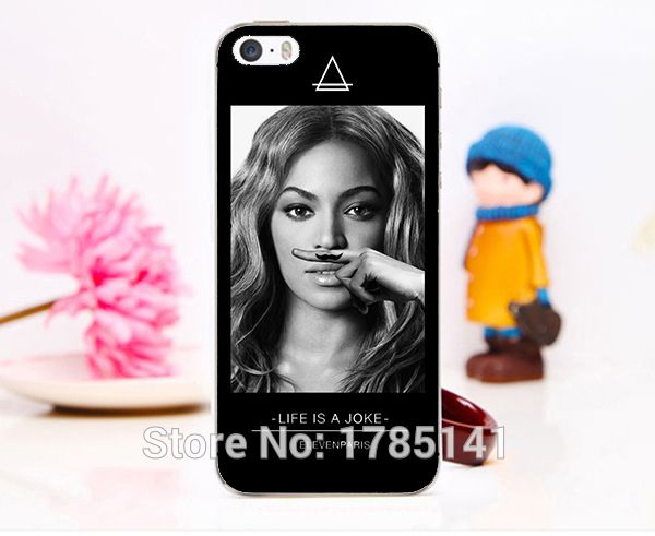 hot 1pcs Coque eleven paris Global star LIFE IS A Joke Beyonce -6 hard white Skin Case for iphone 5 5s 4 4g 4S 5c Retail