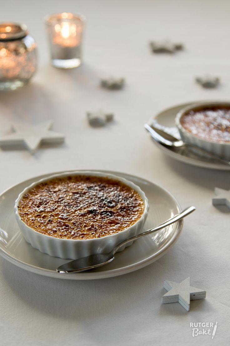 Crème brûlée met cranberry's en sinaasappel - recept