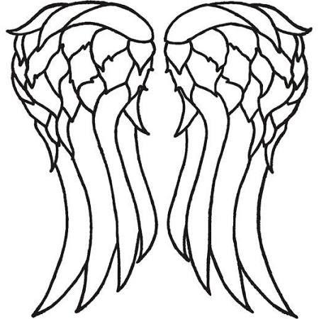 Daryl vest wing stencil: Wings Template, Angel Wings, Dixon Wings, T ...