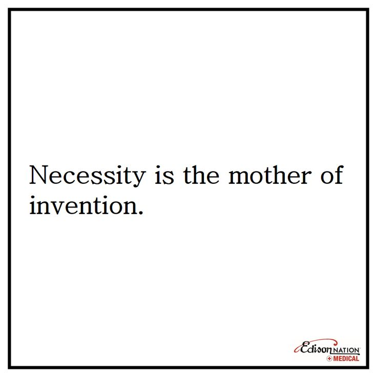 necessity is the mother of all inventions Necessity is the mother of invention posted by esc on november 22, 2002 in reply to: necesity is the mother of invention posted by brian sandine on november 22, 2002: in response to your question, i offer the following excerpt from a speech by leo melamed.