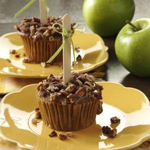 Caramel Apple Cupcakes Recipe from Taste of Home -- shared by Diane Halferty of Corpus Christi, Texas