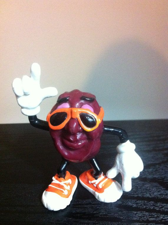 Vintage 1980s California Raisins figure by VintageToyNerd on Etsy, $11.95