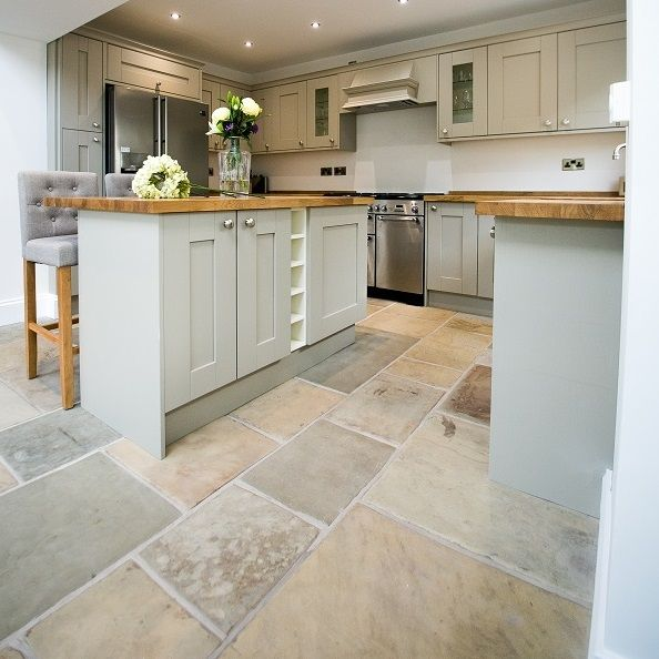 Reclaimed Yorkstone Floor laid in Lancashire Edwardian Terrace supplied by Ribble Reclamation, hints and tips for installing Reclaimed Yorkstone Floors