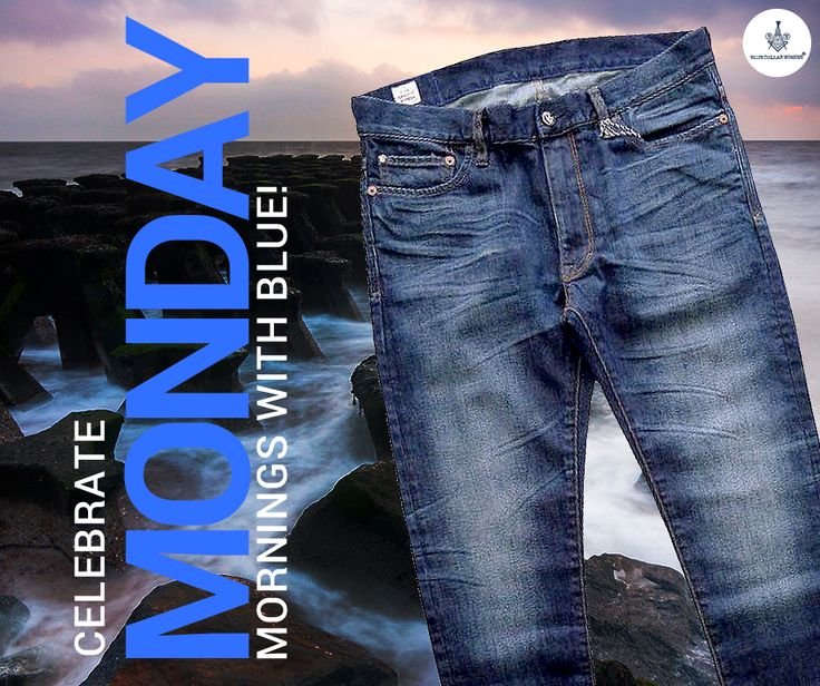 Make your boring Monday mornings happening with a pair of blue line slim denims from the house of Blue Line.