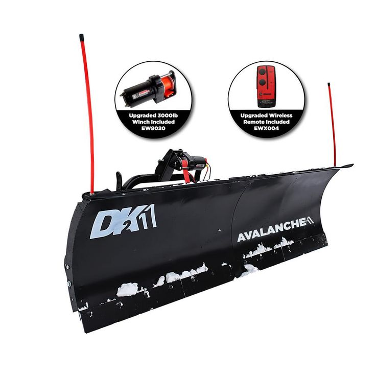 Avalanche Series 84 in. x 22 in. Snow Plow for Trucks and SUVs