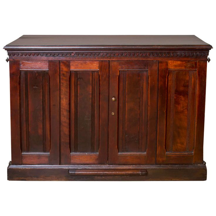 Late 19th Century English Victorian Walnut File Cabinet   From a unique collection of antique and modern cabinets at https://www.1stdibs.com/furniture/storage-case-pieces/cabinets/