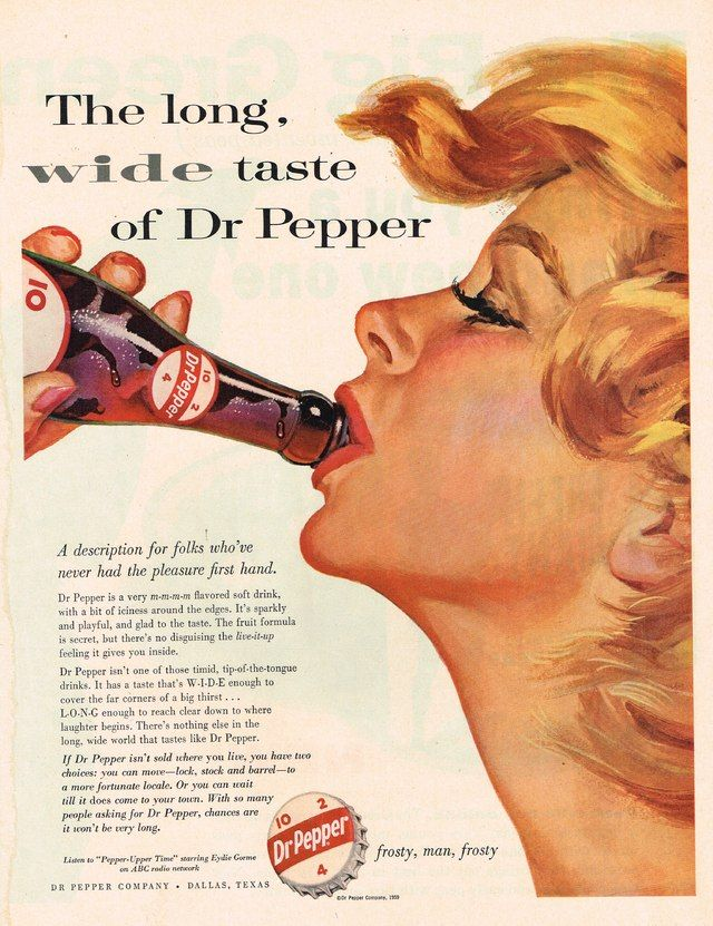 1959 Dr . Pepper Advertisement Photo Picture