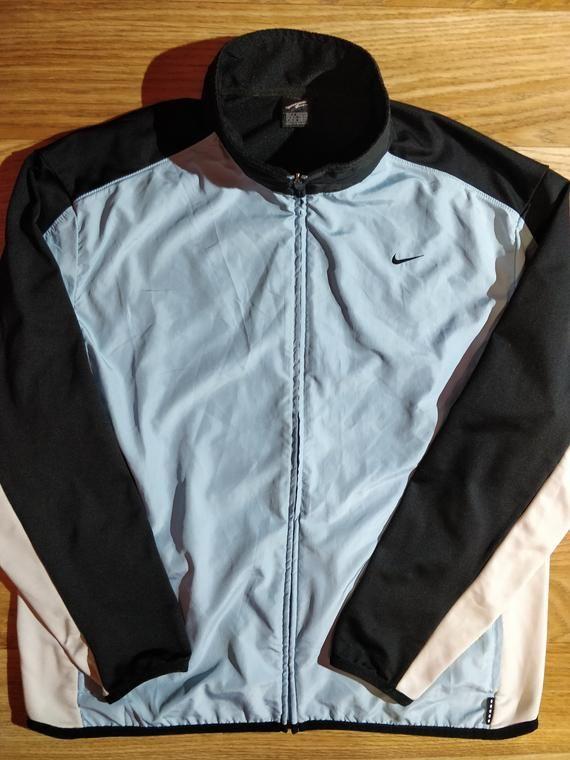 ba4c68db5a Nike Vintage Mens Tracksuit Top Jacket Windbreaker Running Blue ...