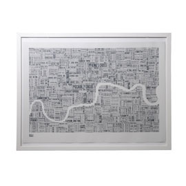 50 best feature wall images on pinterest feature walls world maps bold and noble london type map slate print in white frame gumiabroncs Choice Image
