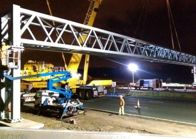 A multi-million pound widening project has begun on the M6 motorway in Lancashire.