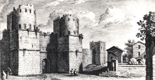 Gate in the Aurelianic walls