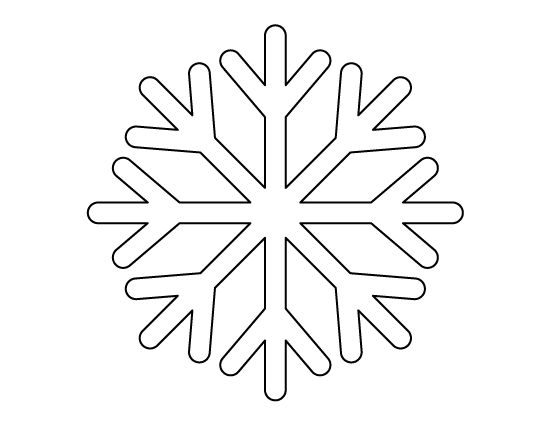 Printable simple snowflake pattern. Use the pattern for