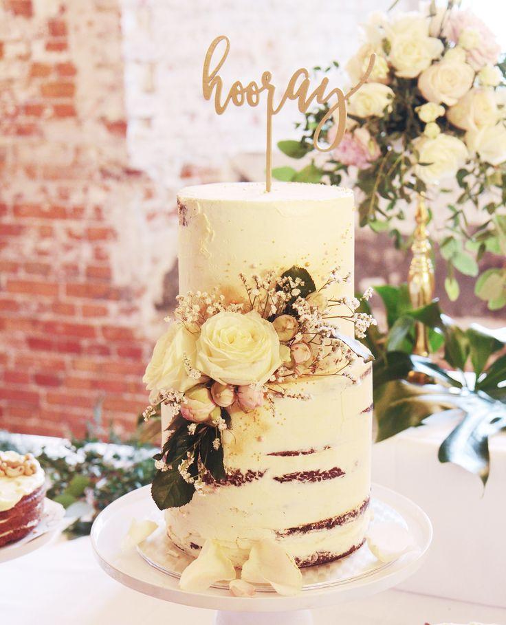 Say It With a Cake! | Kakkumuijan gluteenittomat täytekakut| A rustic wedding cake for a cake buffet| Pic by Jenni Kinnari