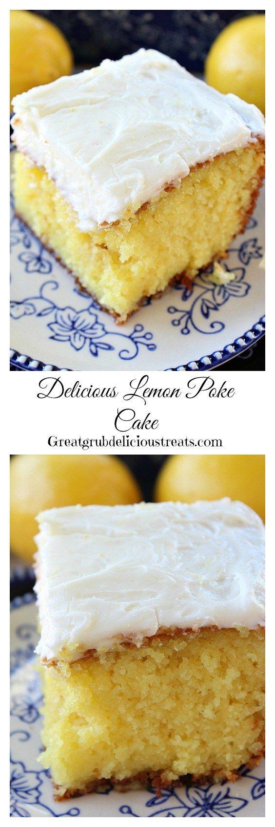 Delicious Lemon Poke Cake with Lemon Buttercream Frosting