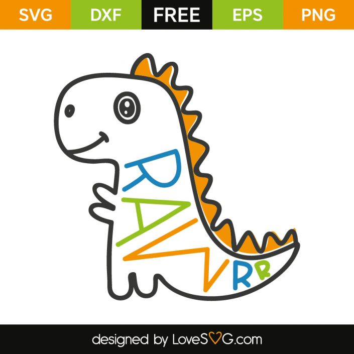 *** FREE SVG CUT FILE for Cricut, Silhouette and more *** Rawrr Dinosaur