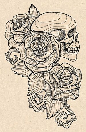 For the boob that tried to kill me! Engraved Skull and Roses design (UT7766) from UrbanThreads.com
