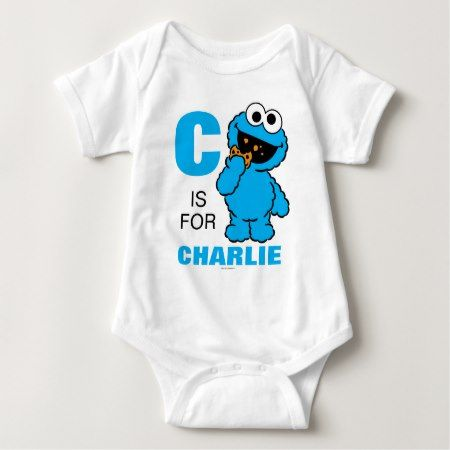 C is for Cookie Monster | Add Your Name Baby Bodysuit - click to get yours right now!