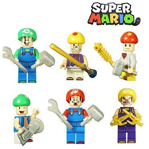 Super Mario Bros. Minifigure Playset Blocks Buildable Toy Play Set Christmas #Unbranded