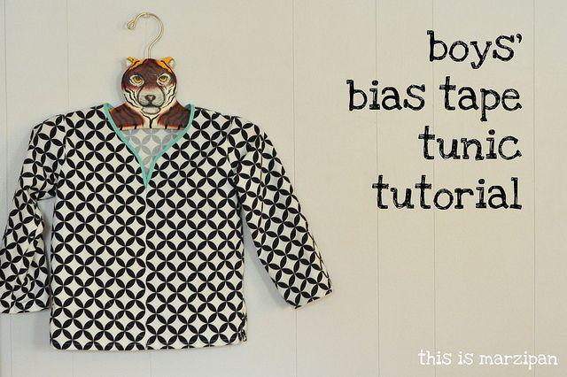 boy's bias tape tunic tutorial. by mary frances {this is marzipan.}, via Flickr