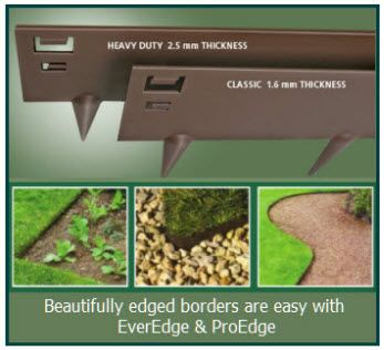 Product image for Ever Edge Steel Lawn Edging - Classic Brown