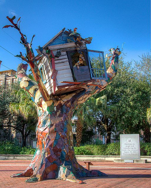 """Katrina Memorial - New Orleans, LA: """"Honoring the people and remembering the events that occurred August 29, 2005 Hurricane Katrina."""""""