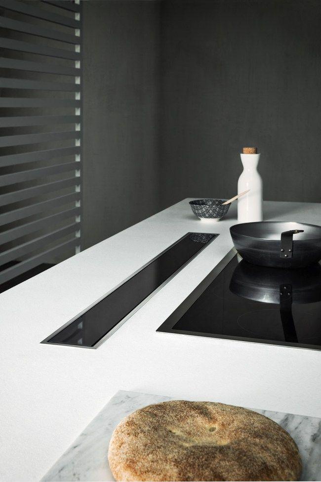 Slide-out stainless steel downdraft DOWN DRAFT by Falmec