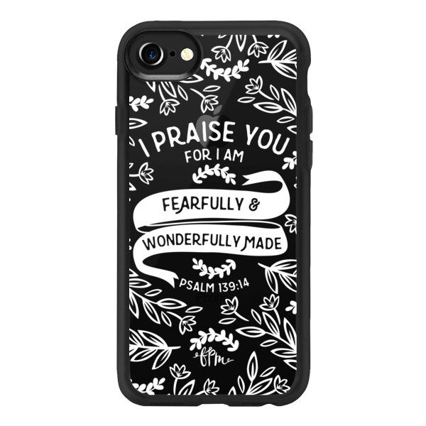 Fearfully & Wonderfully Made - White - iPhone 7 Case And Cover ($40) ❤ liked on Polyvore featuring accessories, tech accessories, phone cases, iphone case, white iphone case, apple iphone case, iphone cover case and iphone cases