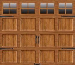 Ideal® Premium 9' x 7' Medium Oak Steel Carriage House Garage Door- $1000 per