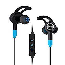 Mixcder Flyto カナル型 高音質 Bluetoothイヤホン ワイヤレスイヤホン マイク付き 防汗 防滴 ハンズフリー 搭載 (ブルー・ブラック) おすすめ度*1 ASIN B01F4XA2UA イヤーウィングつきで装着性はかなりしっかりしているが、長時間使用で若干耳に痛みを感じた。スポーツ向けとしてはかなりしっかり固定されるが、通勤通学用としてはきつすぎるくらいかもしれない。ウィング自体は着脱できるので、取り外しても良いが、そうするとハウジングがやや重いので、装着性がだいぶ下がる。遮音性はそこそこ高めで、音漏れも少なめ。 aptXには対応しない。通信性能はかなり安定している印象だ…