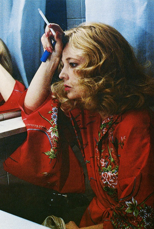 "Gena Rowlands in ""Gloria"". She is Awesome in this movie...one tough cookie!!"