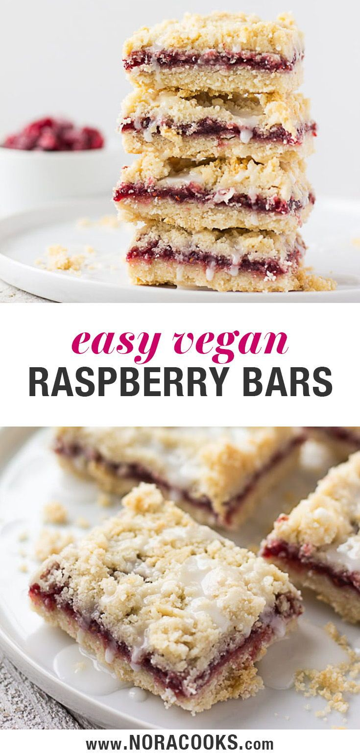 Vegan Raspberry Bars are the sweet summer treat you need! Made with a coconut oi…