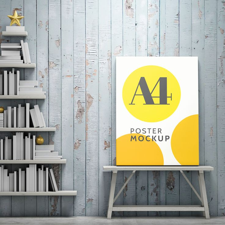 a4 poster mock up psd free template