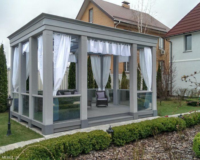 Навесы, зимные сады, беседки современный дизайн под ключ