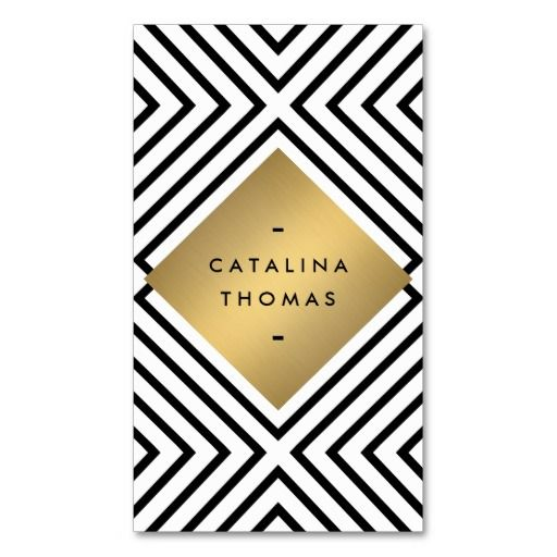 56 best business cards for bloggers fashion stylists images on retro mod bold black and white pattern gold emblem business card colourmoves