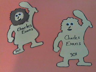 Cavemen themed door decs! so much fun