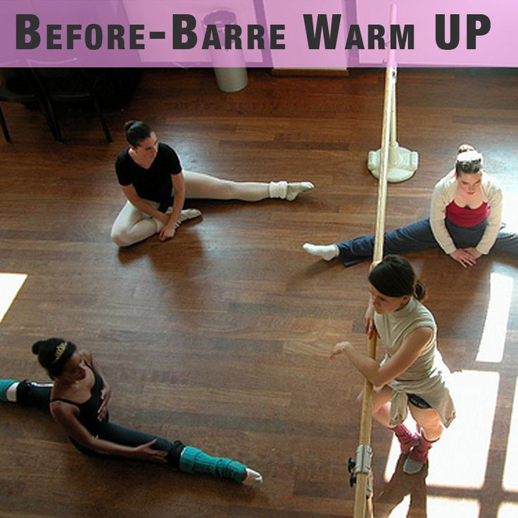 Warm up stretches for before your barre class- if your instructor doesn't lead you through stretches- BUT SHE SHOULD