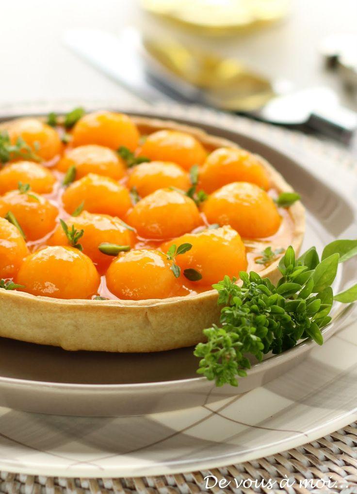 De vous à moi...: Tarte de Melon au Chèvre Frais