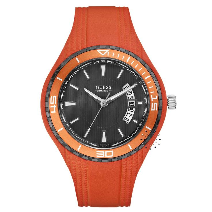 GUESS Orange Rubber Strap Η τιμή μας: 106€ http://www.oroloi.gr/product_info.php?products_id=26015