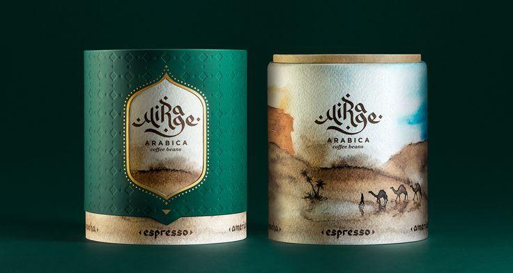 Mirage Arabica Coffee Concept on Behance    когда крутишь меняется картинка